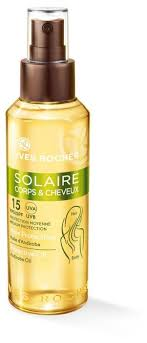 Yves Rocher <b>Солнцезащитное масло для тела</b> и волос SPF 15 ...