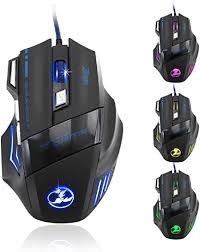 Zelotes 5500 DPI 7 Button LED Optical USB Wired <b>Gaming Mouse</b> ...