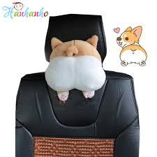 Novelty Corgi Bottom <b>Car</b> Seat Neck Pillow Dog Buttocks <b>Cute</b> ...