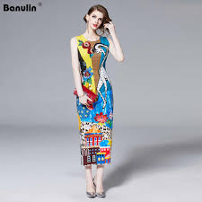 Luxury Print Vintage Casual Shirt Dress Women <b>Summer</b> Dress ...