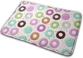 <b>Donut Pattern</b> Doormats Anti-Slip House Garden Gate Carpet Door ...
