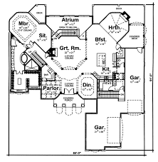 Octagonal Two Story Great Room   DJ   st Floor Master Suite    Floor Plan