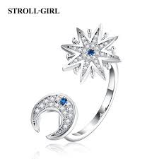 <b>Strollgirl 100</b>% <b>925 Sterling</b> Silver Engagement Ring Sparkling ...
