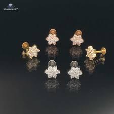 <b>2 pcs</b>/<b>lot</b> 16G Star Helix Cartilage Earrings Stud Ear Lip Piercing ...