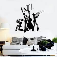jazz decor vinyl wall decal jazz band musical room decor music stickers ig