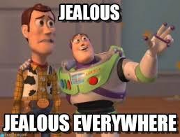 Jealous - X X Everywhere meme em Memegen via Relatably.com