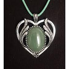 """<b>Кулон</b> из <b>авантюрина зеленого</b>, овал 25х18мм, оправа """"сердце с ..."""