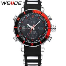 <b>WEIDE Sports Military</b> Fashion 50 Bar Water Resistant Electronic ...