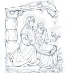 Рисунки рождество христово раскраски