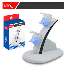 LED <b>Dual USB Charging Charger Dock</b> Stand Cradle Station for ...