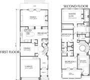 Story Urban Area Housing Design Plan  Narrow  amp  Zero Lot Home    Narrow Home Plan D