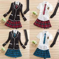 <b>Japanese School</b> Girl Cute Sailor Uniform Dress Full Set Cosplay ...