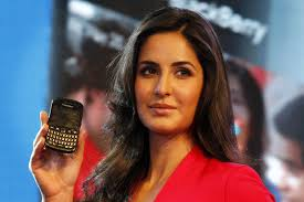 Katrina Kaif displays BlackBerry's new Blackberry Curve 9220, at a launch in New Delhi, - bollywood-katrina-kaif-4