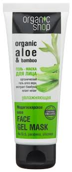Organic Shop гель-<b>маска</b> Мадагаскарское <b>алоэ увлажняющая</b>
