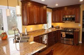 Titanium Granite Kitchen Patterned Backsplash Ideas Kitchens Light Wood Cabinets Simple