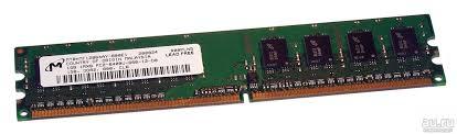 <b>Оперативная память</b> Micron DDR-2 DIMM/ <b>1Gb</b>/ <b>PC2</b>-<b>6400</b>/ 800 ...