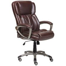 serta biscuit brown supple bonded leather executive office chair brown leather office chairs