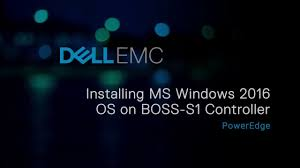 Installing Microsoft Windows 2016 OS on <b>BOSS</b>-S1 <b>controller</b> using ...