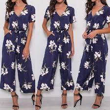 Boho <b>floral</b> Jumpsuit Women Plus Size <b>5xl Printed</b> Sleeveless ...