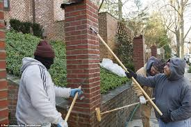 Small Picture Obamas new Washington DC home gets a wall installed as they