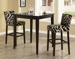 tall dining chairs counter:  replaceable upholstery of zebra fabric upholstered counter height dining chairs and black tall dining table