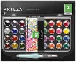 Arteza Classic Watercolor Paint, Set of 36 Vibrant ... - Amazon.com