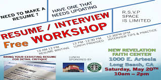 resume writing and how to interview workshop new revelation resume writing and how to interview workshop