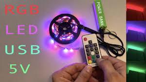 <b>RGB</b> LED strip <b>USB 5v</b> - YouTube