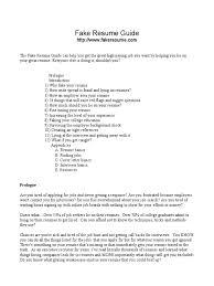 fake resume guide pdf r eacute sum eacute salary
