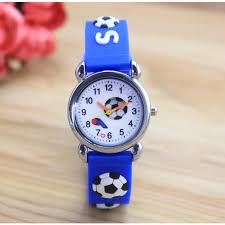 New 3D Cartoon fashion <b>silicone football kids Watch Children</b> Girls ...
