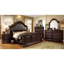 furniture of america angelica english style brown cherry 4 piece bedroom set bedroom furniture pieces
