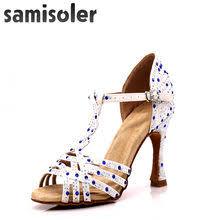 Women Rhinestone <b>Ballroom</b> Dance Shoes Latin Salsa Promotion ...