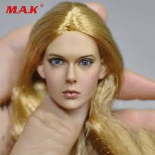 <b>1/6 Scale</b> Female Sculpt <b>European</b> Asian Beauty Hair Head Carving ...