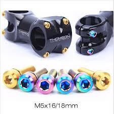 <b>RISK 6PCS M5*16mm</b> M5*<b>18mm Titanium</b> Stem Bolts For Bike MTB ...