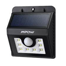 Mpow Super Bright <b>8 LED Solar</b> Powered Wireless Security Light ...