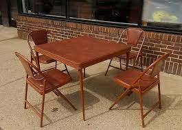 durham mfg 1940s folding table and chairs art deco mid century card century art deco mid century dining