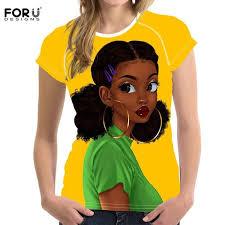 <b>FORUDESIGNS Women T Shirts</b> Casual Summer Clothes American ...