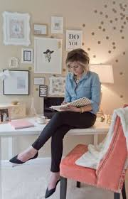 lydia lynns polka dotted and cheerful home office office tour pretty workspace boss workspace home office