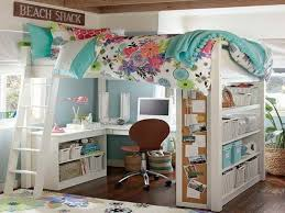 bunk beds with a desk underneath bunk bed office space