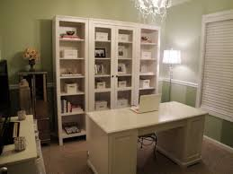 smart bookcase furniture and white desk design feat nice green wall home office decor idea chic attractive home office