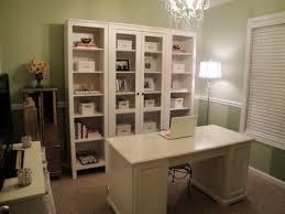 smart bookcase furniture and white desk design feat nice green wall home office decor idea chic home office decor