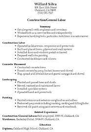 resume samples  construction  trades  and labor   damn good resume    willards old