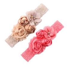 <b>Ncmama</b> Baby Girls Floral Hairband Nylon Elastic <b>Small</b> Pear ...