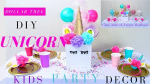 DIY <b>Unicorn Party</b> Ideas   Girls <b>Party</b> Decoration Ideas   Dollar Tree ...