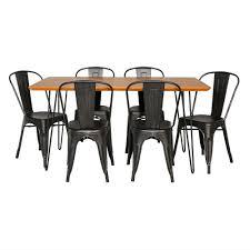 Walker Edison Furniture Company <b>Contemporary 7-Piece</b> Walnut ...