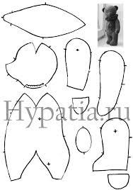 Teddy bear pattern/<b>мишка</b> тедди выкройка | Плюшевые узоры ...