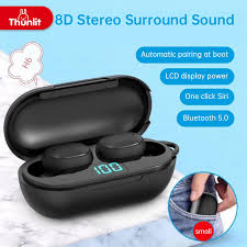 Thunlit TWS <b>H6 Wireless Bluetooth</b> Headset Waterproof Noise ...