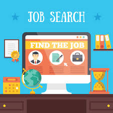 job search job search websites sponsored jobs in job search illustration