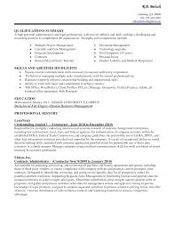 example qualifications summary administrative strenghts and example qualifications summary administrative strenghts and intended for administrative assistant resume summary