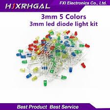 <b>100PCS 3mm LED diode</b> Light Assorted Kit 5Colors*20PCS F3 ...